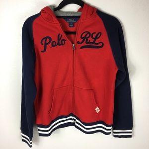 Polo Ralph Lauren Boys Hoodie Large Zip Up